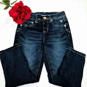 justice capri denim jeans girls blue